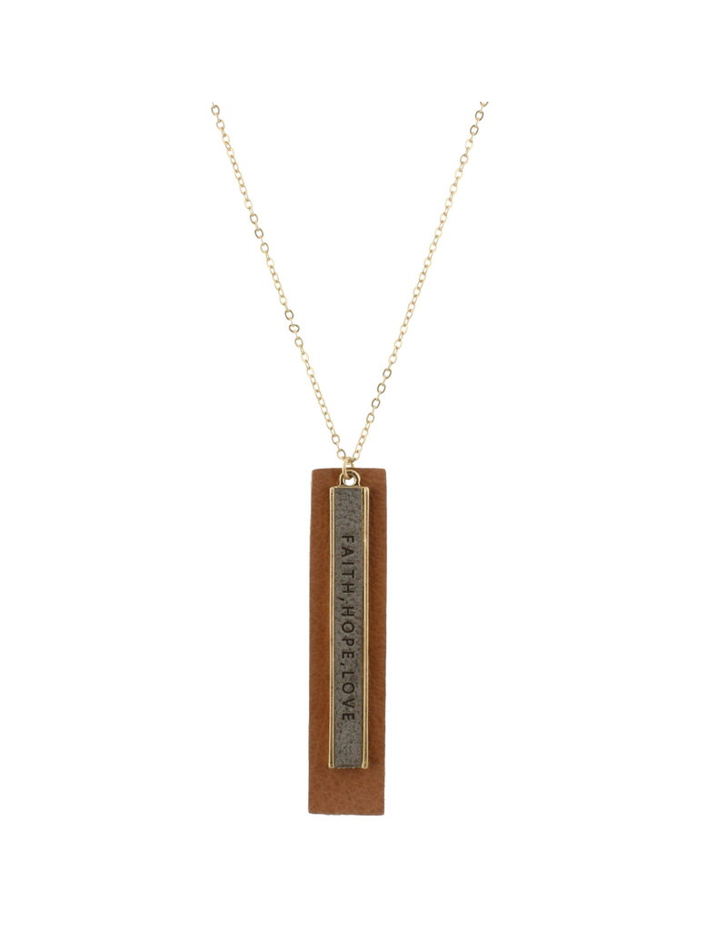 Jane Marie Jane Marie-Faith Hope and Love Necklace