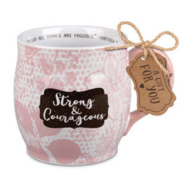 Lighthouse Christian Production CO. Strong and Courageous Mug