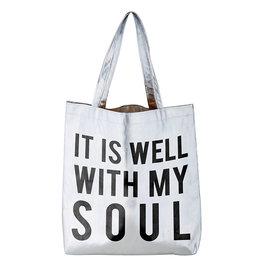 Santa Barbara Designs It Is Well Silver Tote Bag