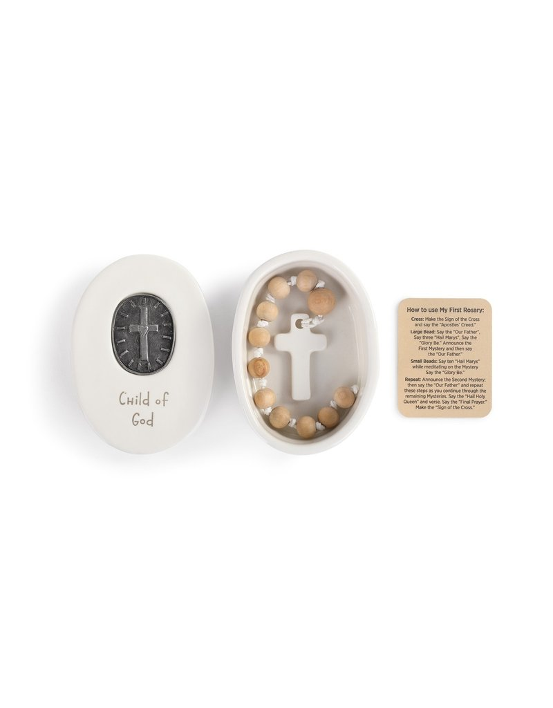 Child of God Medallion Box with Rosary