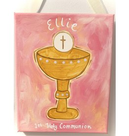Ivy Lane Custom Personalized Girls First Communion Canvas Painting