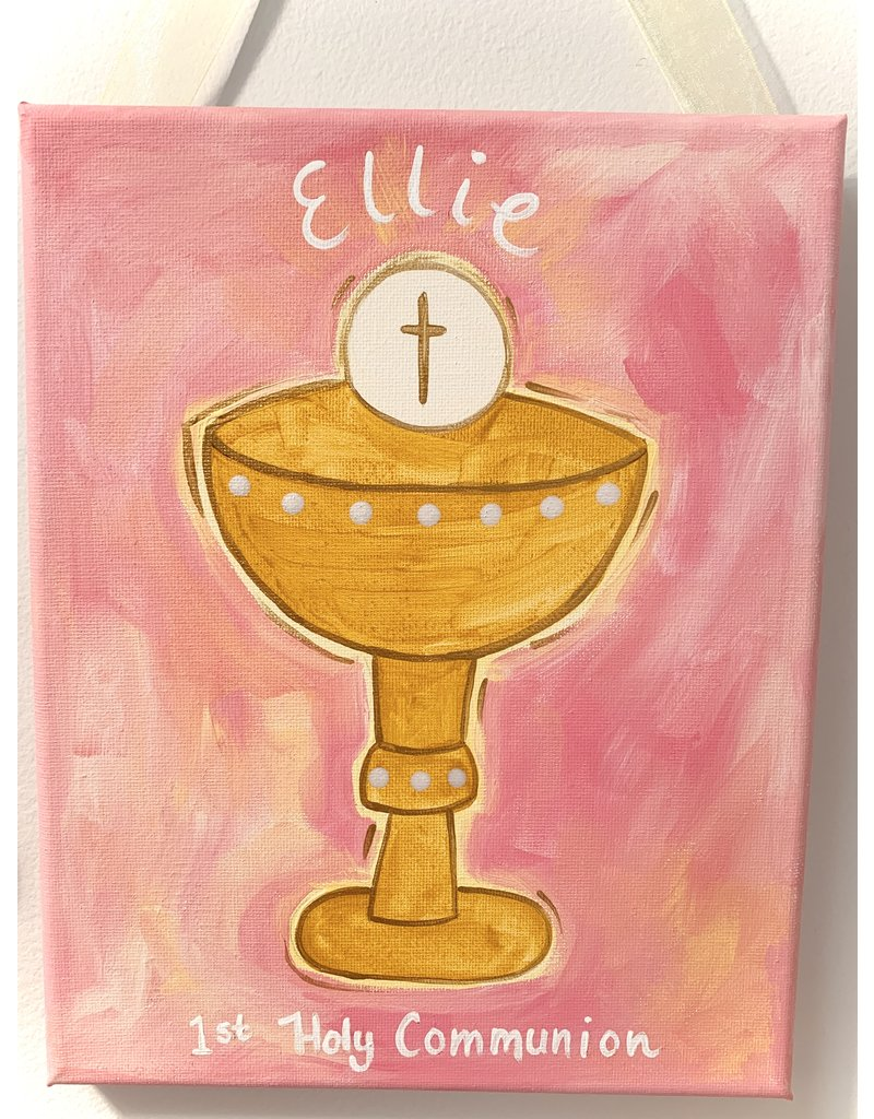 Ivy Lane Custom Personalized Girls First Communion Canvas