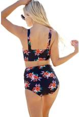 Zoara Vintage Style Floral Bikini