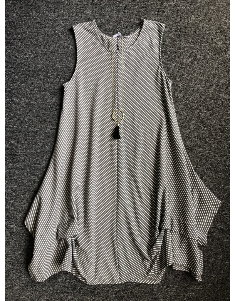 Violet Ruby Knitted Stripe Tunic