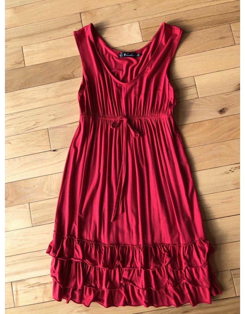 Neesha TC Ruffle Bottom Tie Waist Dress M/L
