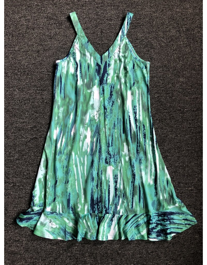 Neesha A Line Ruffle Dress