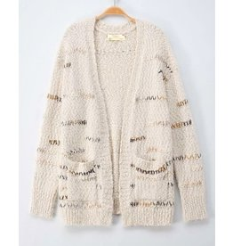 Trend Notes Stitch Pattern Cardigan