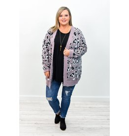 Easel Animal Print Cardigan