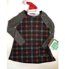 EG Fashion Plaid Side Pocket Tunic