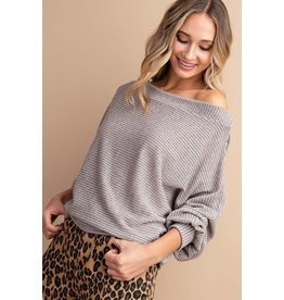 Relish Textured Off Shoulder Top