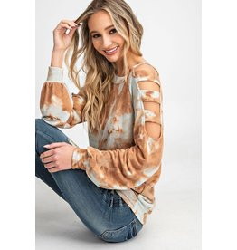 Relish TieDye Ladder Cut Out Top