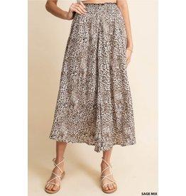 Relish Leopard Print Skirt w/Pockets
