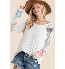 Relish Multi Print Sleeve Top