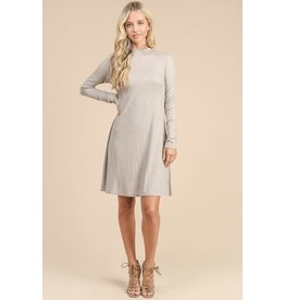 Relish Mock Neck Swing Dress