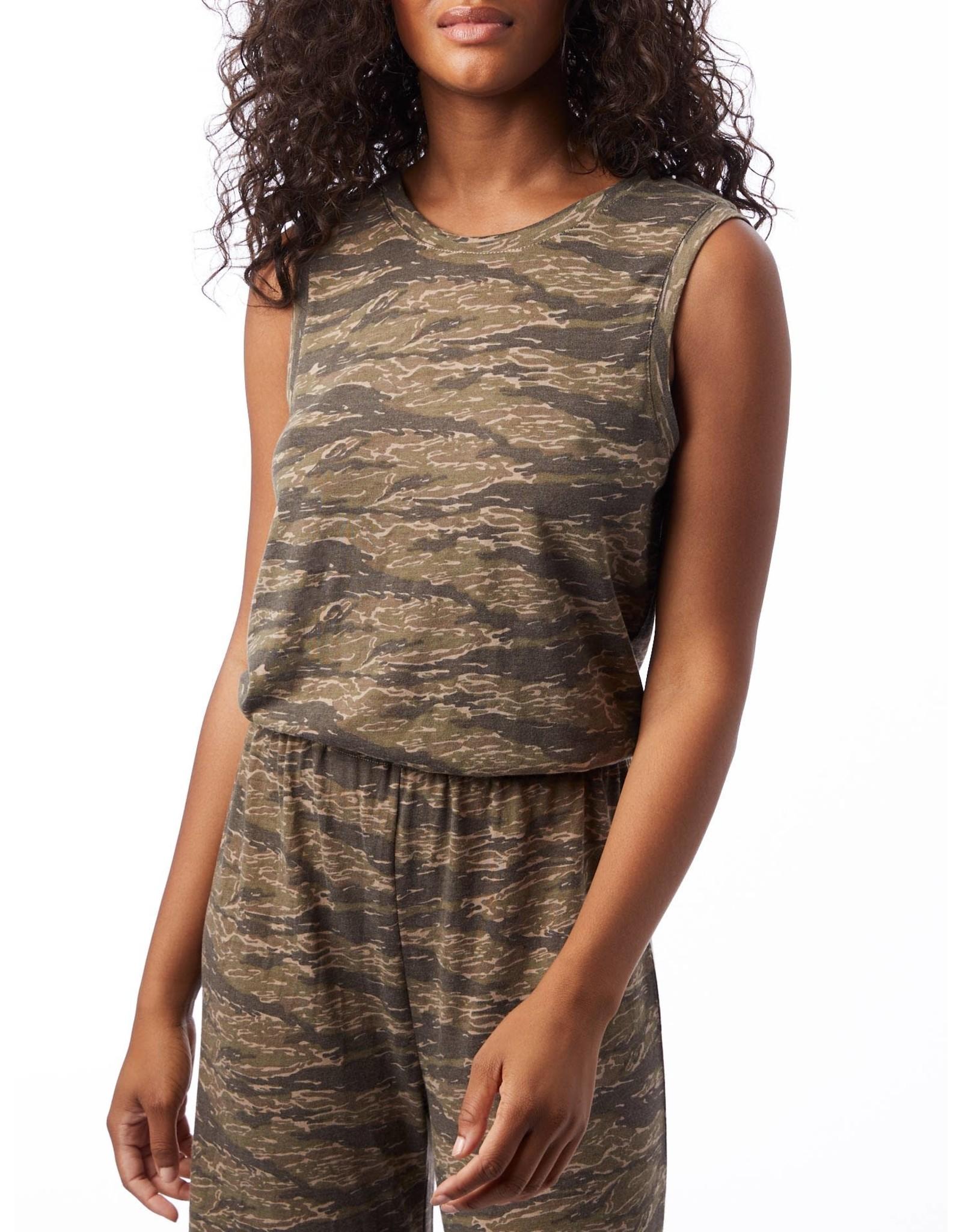 Alternative Apparel Harper S/L Cropped Jumpsuit