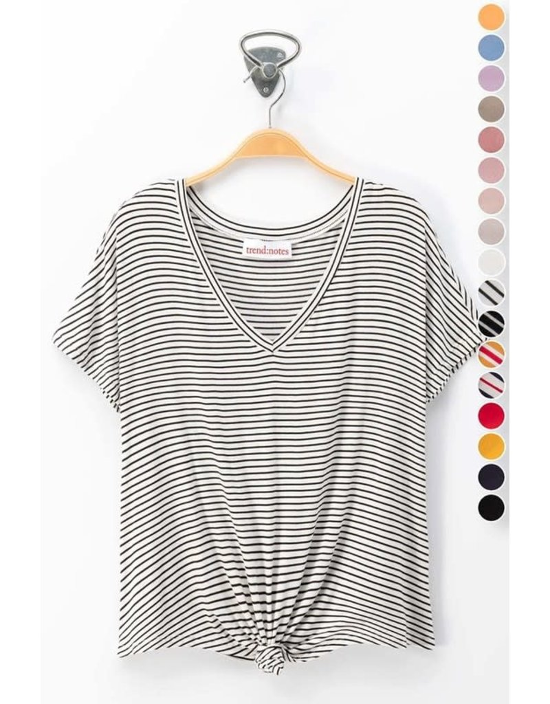 Relish VNeck Knot Front Top