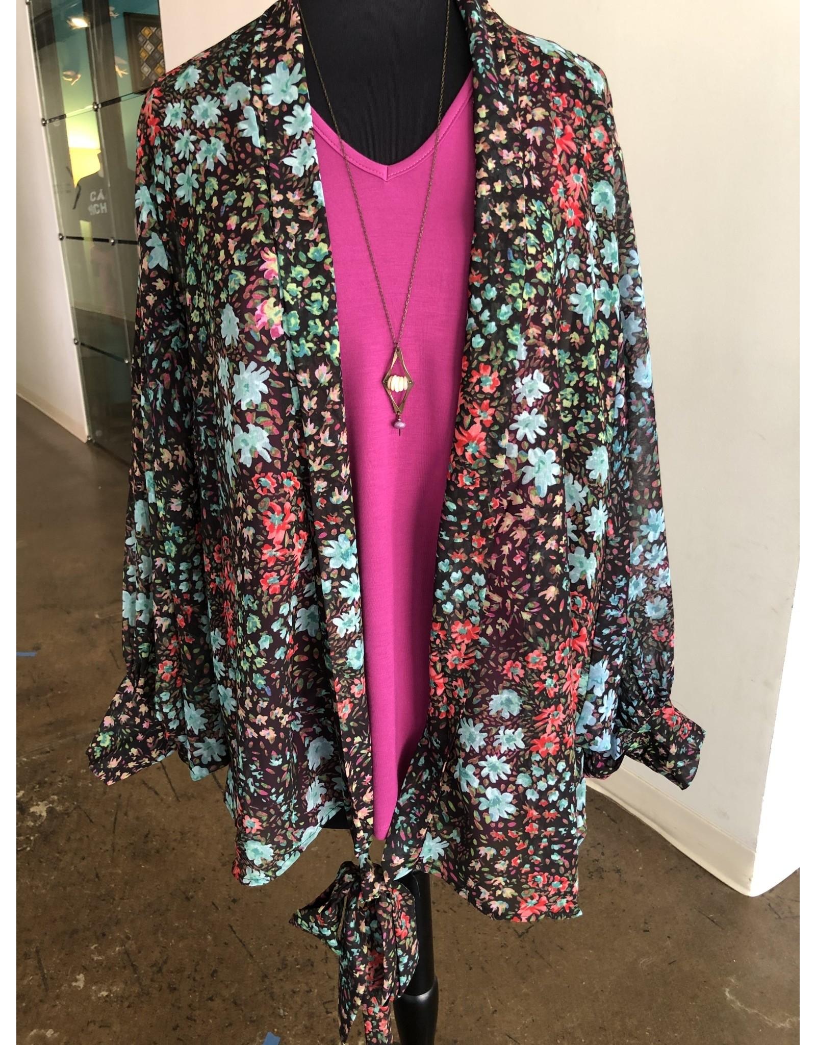 Relish Tie Front Kimono