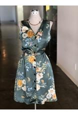 Relish Floral V-Neck Button Dress