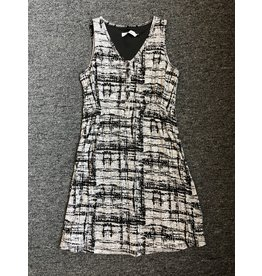 Neesha Burnout Smocked Button Dress