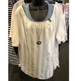 Relish Linen Look Stripe Top
