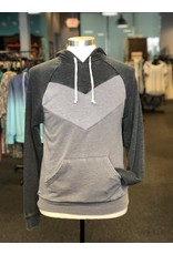 Alternative Apparel Chevron Blocked Hoodie