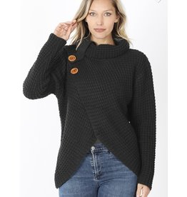 Relish Wrap Assy Hem Sweater