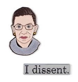 The Unemployed Philosphers Guild RBG I Dissent Pins