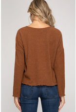 Relish L/S Rib Knit Top