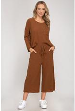 Relish Rib Knit Culottes