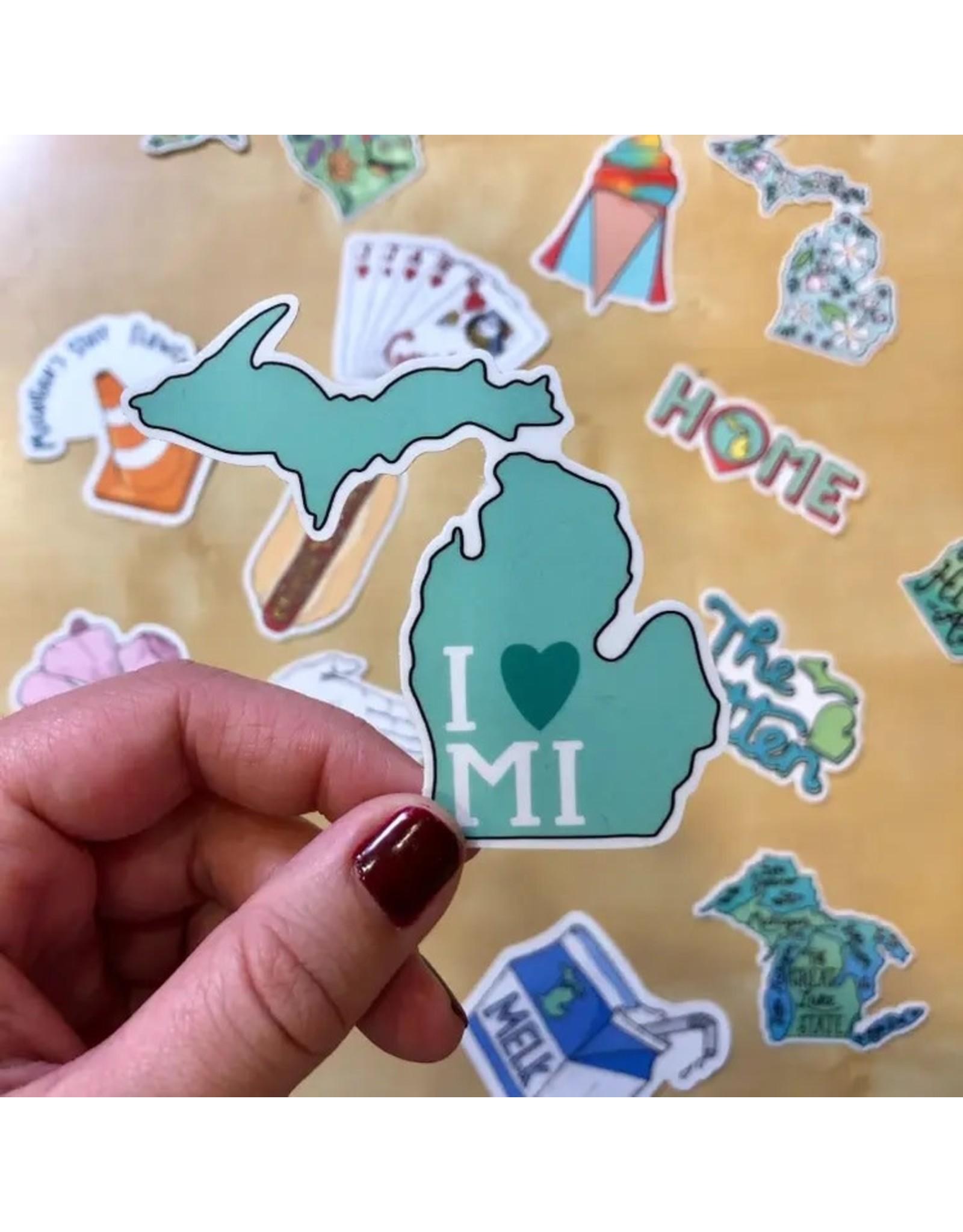 Relish Michigan Vinyl Stickers