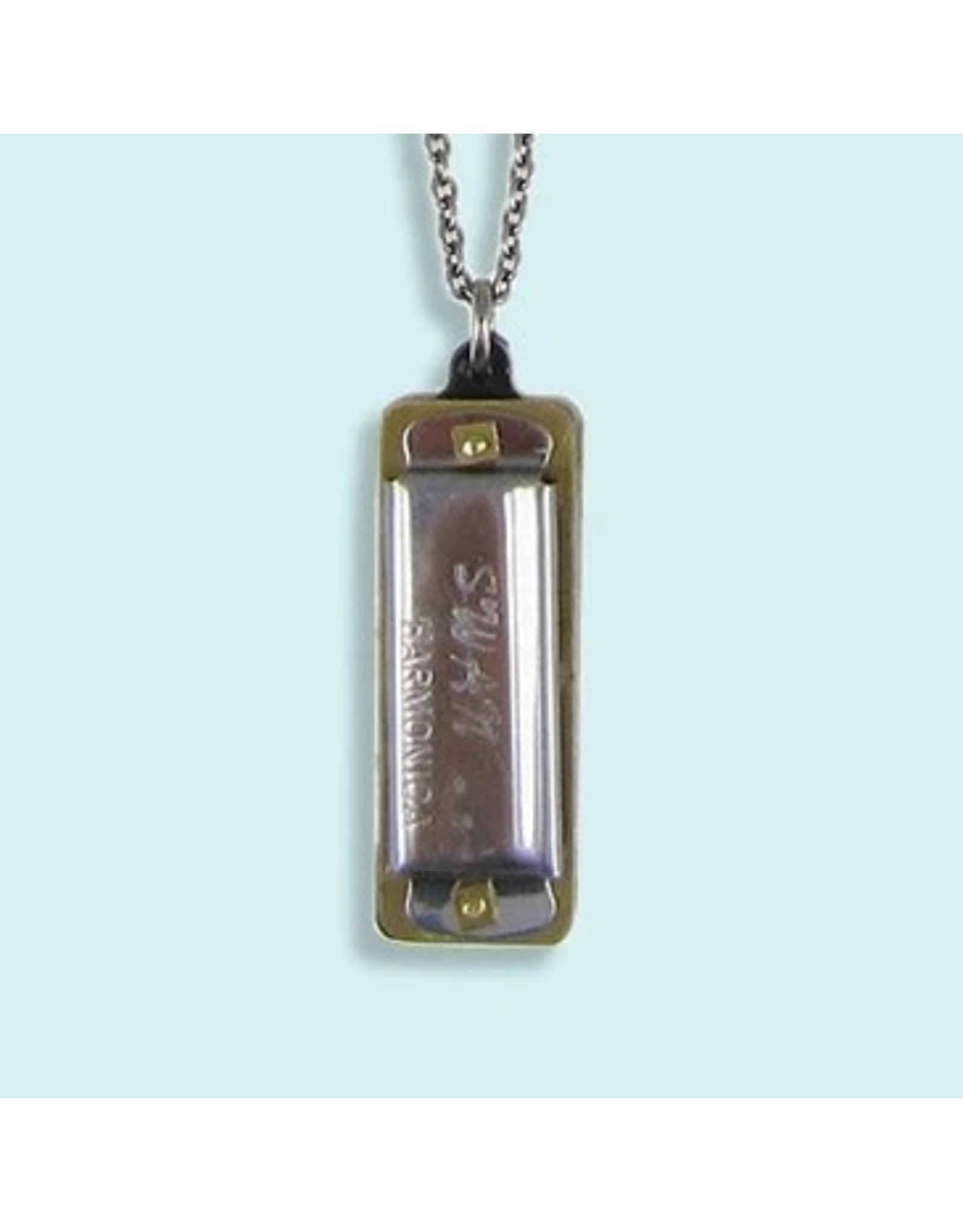 Relish Silver Harmonica Necklace