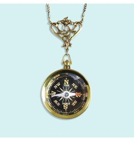 Relish Filigree Compass Necklace