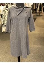 Neesha Split Cowl Button Dress