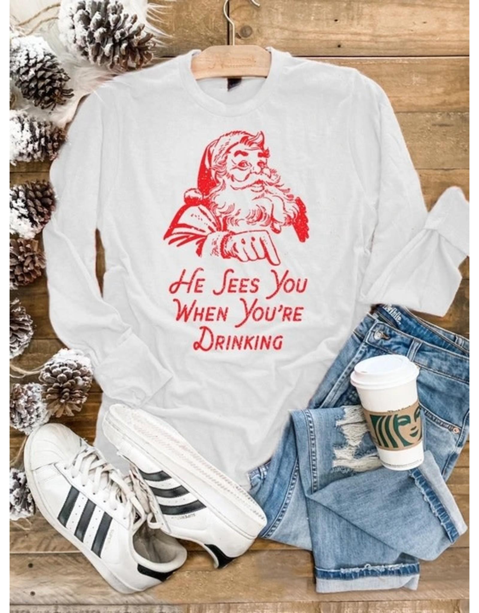 Relish Santa See's You L/S Tee