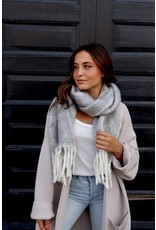 Panache Accessories Soft Long Plaid Scarf with Fringe