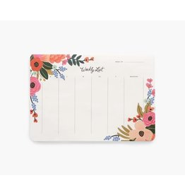 RIFLE PAPER CO Lively Floral Weekly Desk Pad