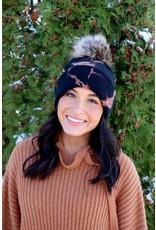 Panache Accessories Tie Dye Pom Hat