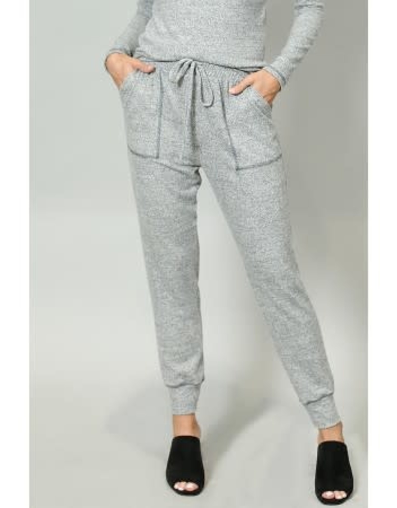 Coin1804 Cozy Contrast Stitch Pocket Jogger