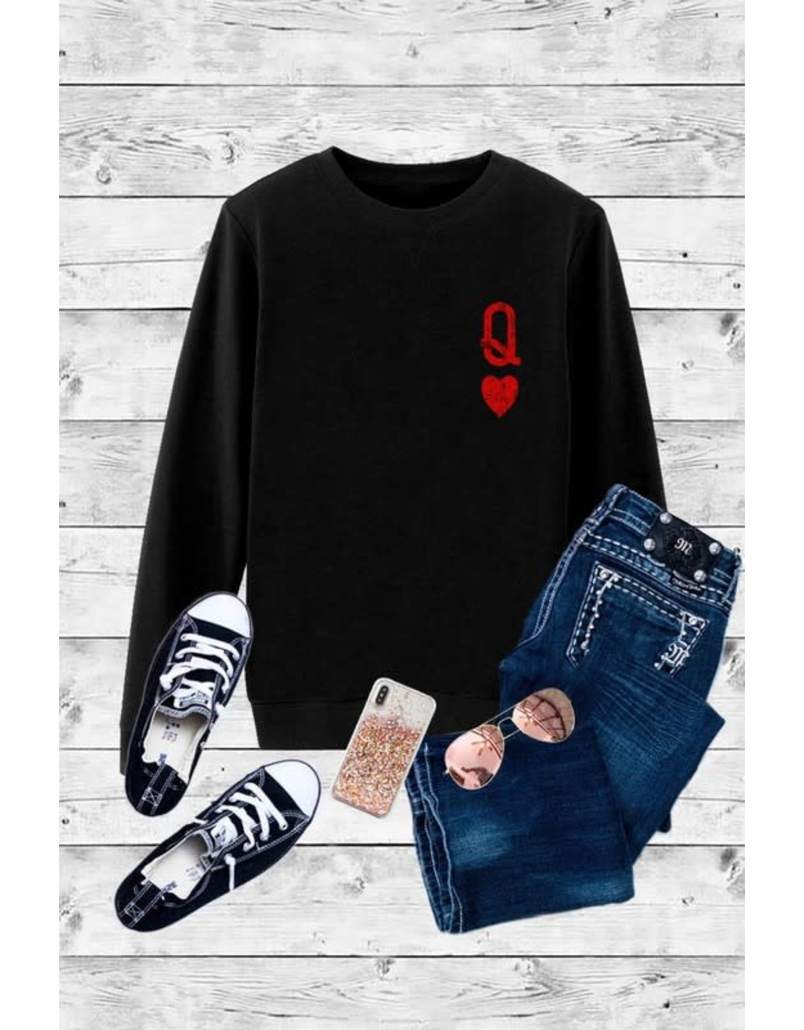 Relish Queen of Hearts Valentine Sweatshirt