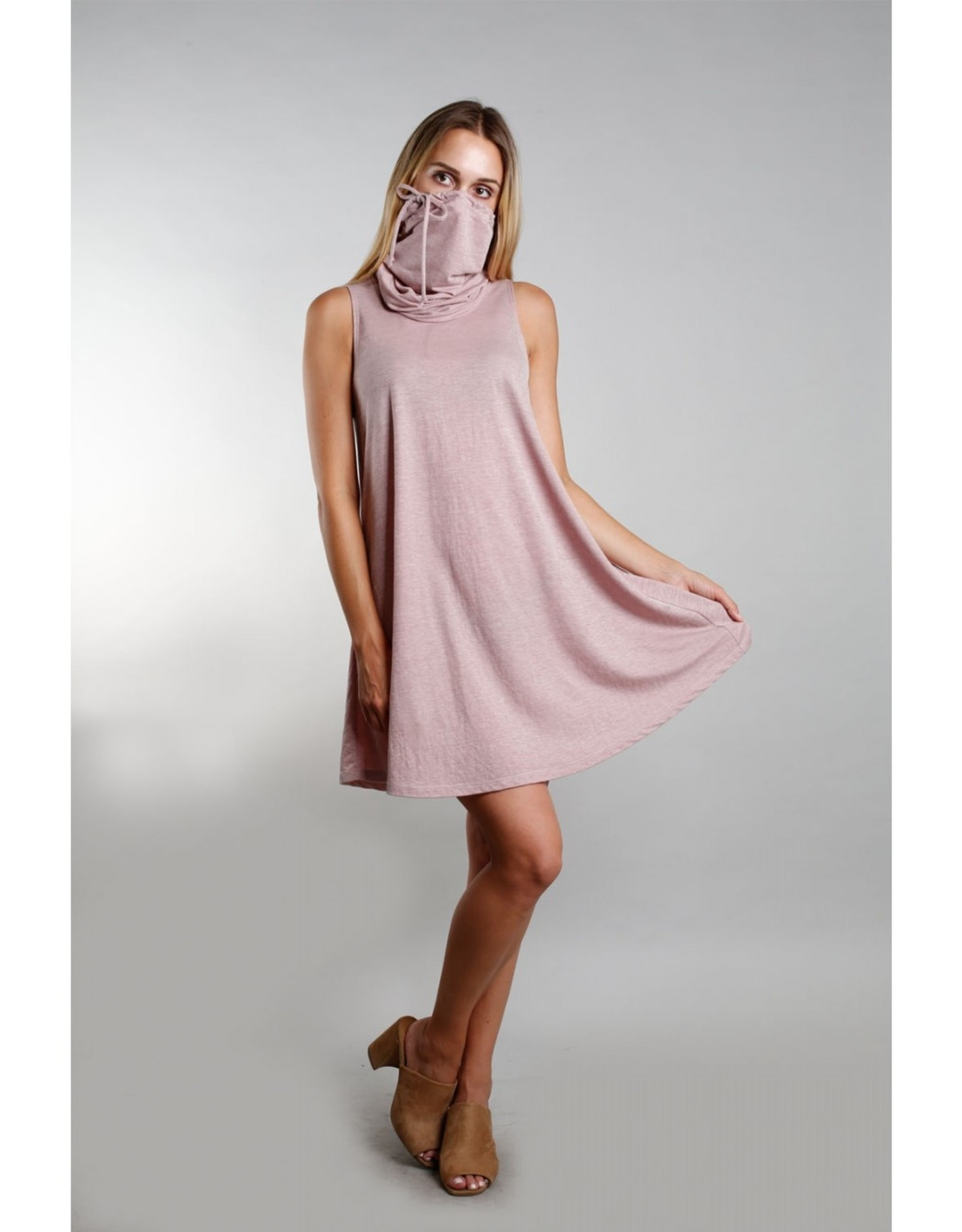 Coin1804 Funnel Neck Pocket Dress
