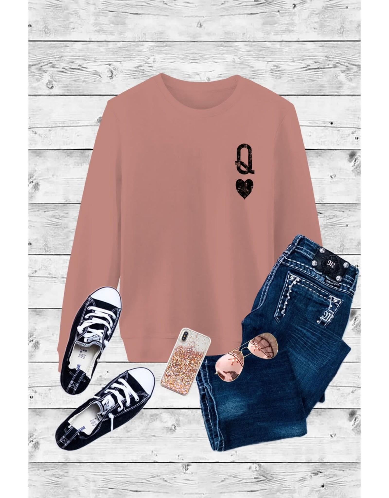 Relish Queen of Hearts Valentine Sweatshirt