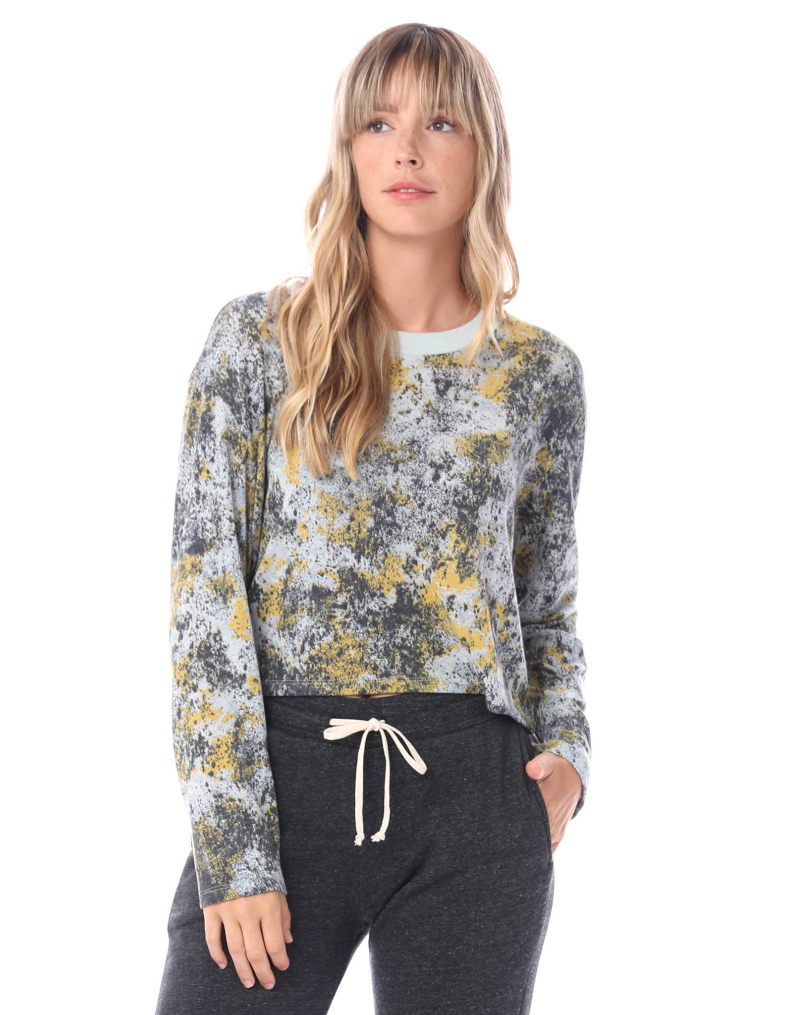 Alternative Apparel Headliner Printed Eco Jersey Cropped Top