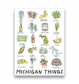 City Bird Michigan Things Sticker