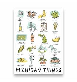 City Bird Michigan Things Sticker
