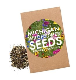 City Bird MI Wildflower Bird & Butterfly Seed Packet