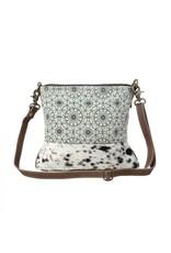 Myra Bag Green Floral Print Shoulder Bag