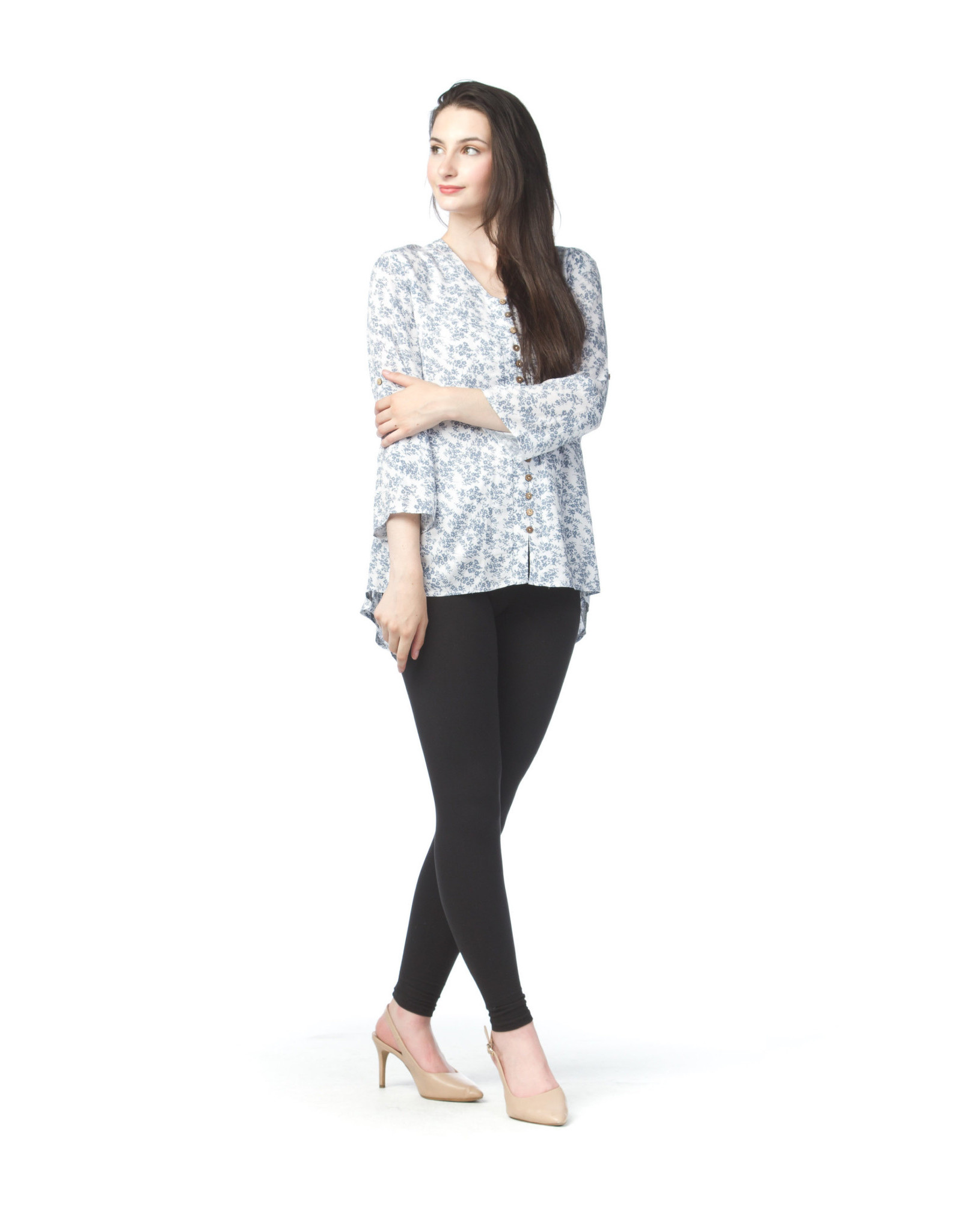 Papillon Ditsy Floral 3/4 Sleeve Top