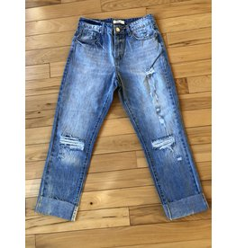 Elan Boyfriend Jeans with Rips