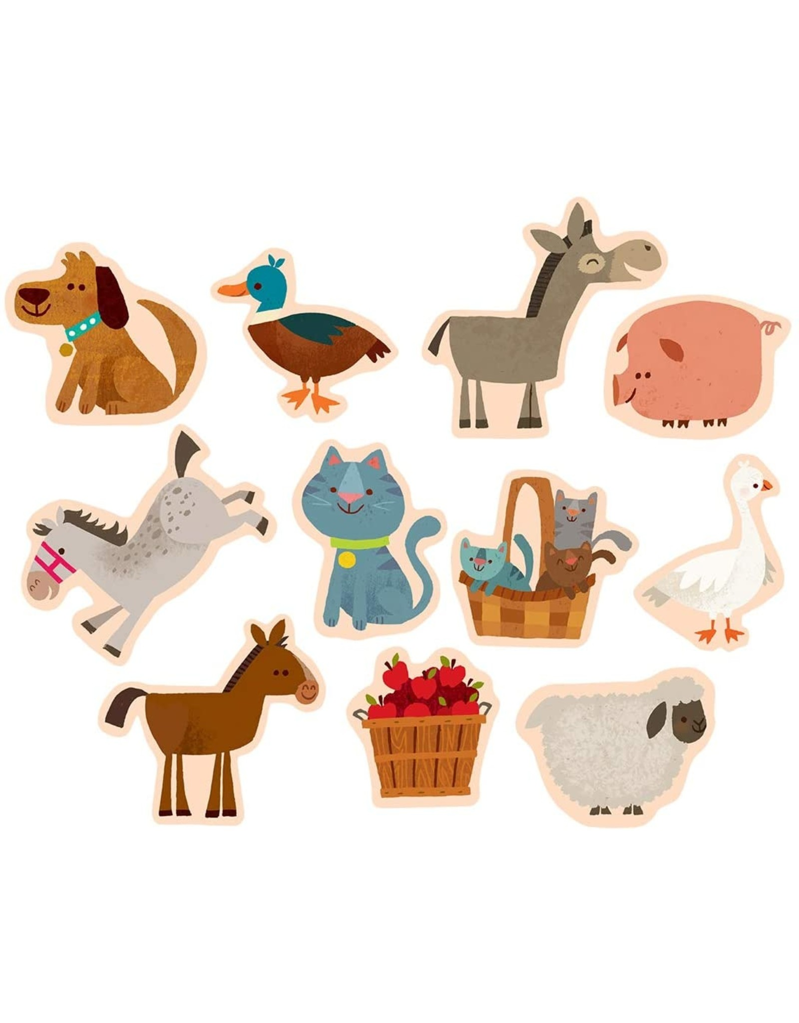 Mudpuppy On the Farm Magnetic Wood Shapes
