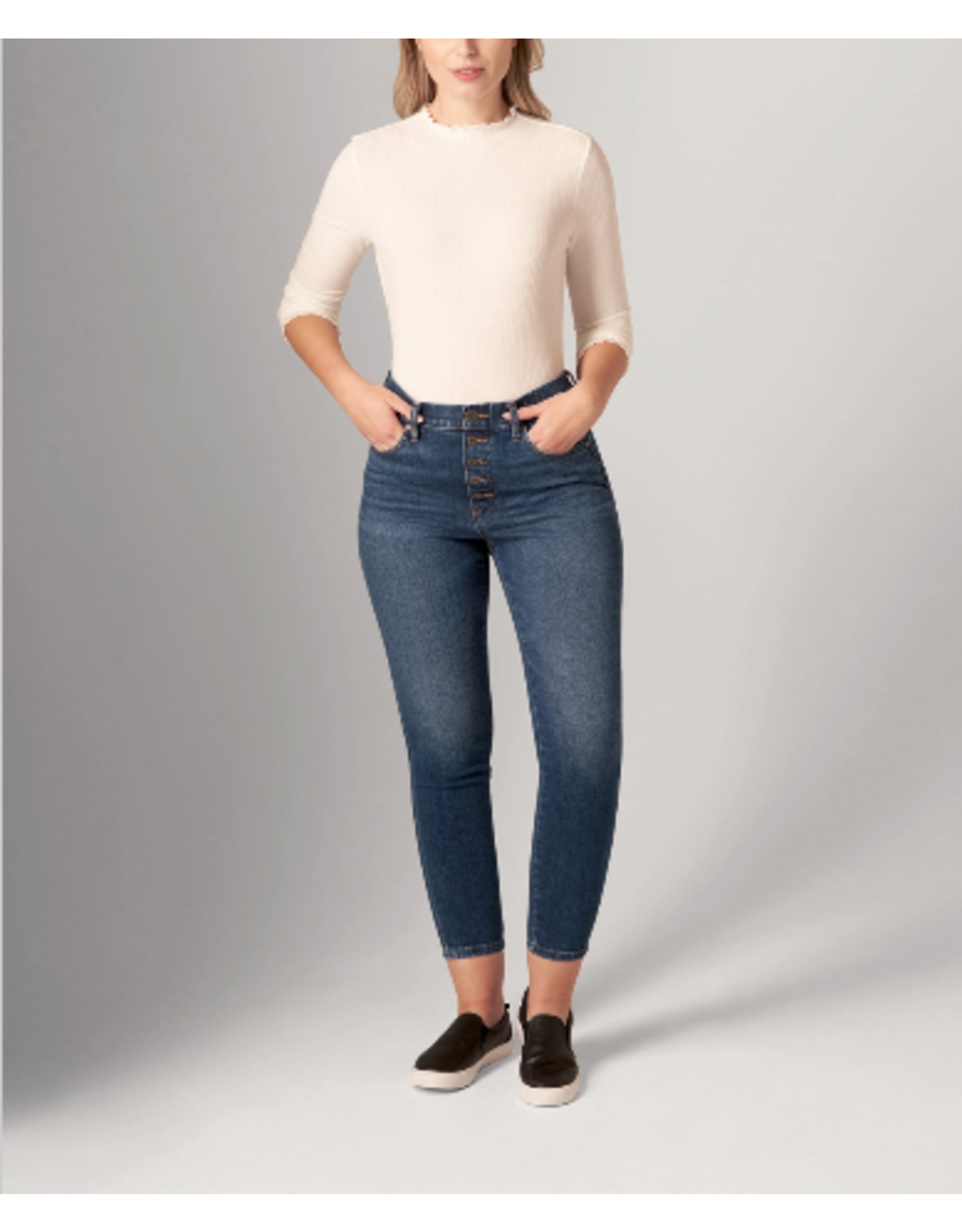 Jag Valentina High Rise Skinny Pull-On Jeans-Buttonfly